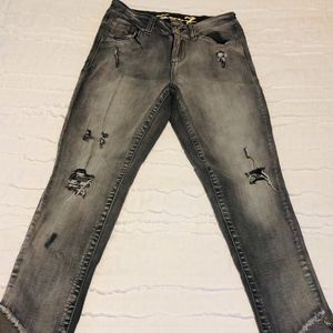 Seven, skinny, stretch, size 8, distressed jeans